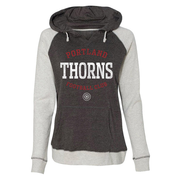 Portland Thorns Ladies Raglan Pullover Hood