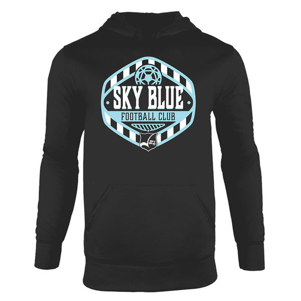 Sky Blue Fleece Pullover Hood