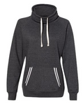 No-Scowl Cowl-Neck Sweatshirt - Blk