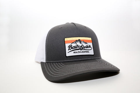 Mountain Sunset Snapback - Charcoal