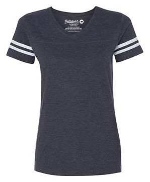 Short Sleeve Football T - Navy
