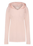 Laced-Shoulder Long Sleeve - Pink