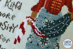A Stitch For Sweet Freedom Cross Stitch Pattern by Lindy Stitches Physical Chart