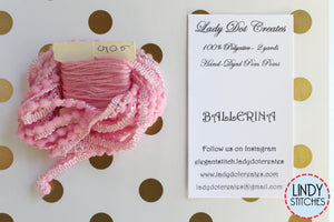 Ballerina Mini Pom Pom Trim by Lady Dot Creates Hand Dyed 2 Yards Pink