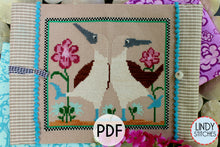 Load image into Gallery viewer, PDF Beach Dance Cross Stitch Pattern by Lindy Stitches