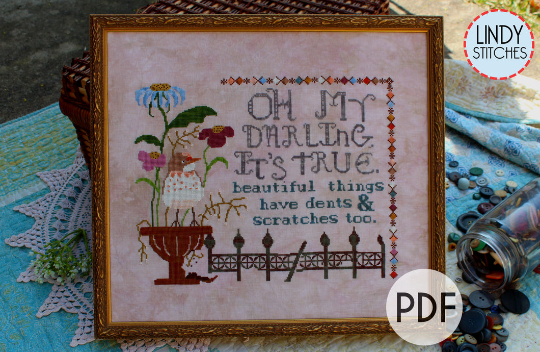 PDF Beautiful Things Cross Stitch Pattern by Lindy Stitches