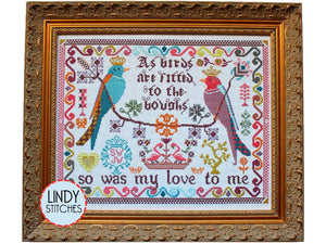 Birds to the Boughs Cross Stitch Pattern by Lindy Stitches Physical Copy