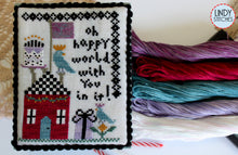 Load image into Gallery viewer, Oh Happy World Cross Stitch Pattern by Lindy Stitches Physical Chart