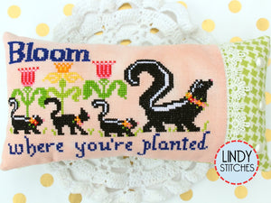 Bloom Where You're Planted Cross Stitch Pattern by Lindy Stitches Physical Copy