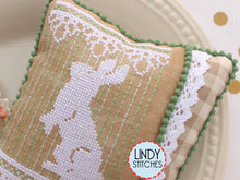 Load image into Gallery viewer, Bunny Lace Trio Cross Stitch Pattern by Lindy Stitches Physical Copy