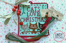 Load image into Gallery viewer, Cats Love Christmas Floss Pack Week Dye Works Floss