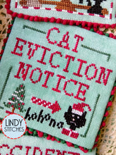 Load image into Gallery viewer, Cats Love Christmas Cross Stitch Pattern by Lindy Stitches Physical Copy