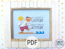 Load image into Gallery viewer, PDF Change in Latitude Cross Stitch Pattern by Lindy Stitches