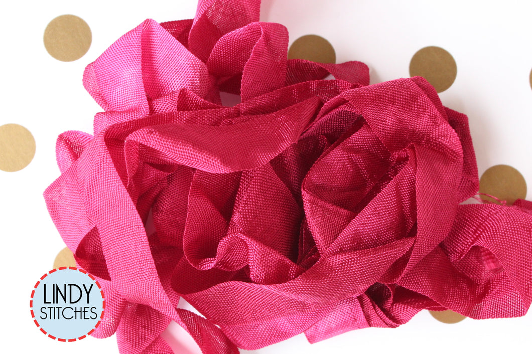 Chianti Ribbon by Lady Dot Creates Hand Dyed 3 Yards Rayon Ribbon