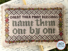Load image into Gallery viewer, Count Your Many Blessings Cross Stitch Pattern by Lindy Stitches Physical Chart