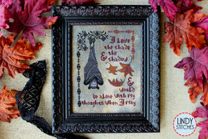 Dracula's Confession Cross Stitch Chart by Lindy Stitches Physical Copy