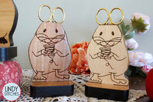 Load image into Gallery viewer, Evelyn Scissor Mouse Wooden Scissor Holder by Lindy Stitches