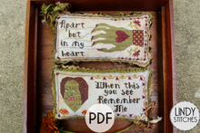 Load image into Gallery viewer, PDF Ex Ghoulfriend Cross Stitch Pattern by Lindy Stitches