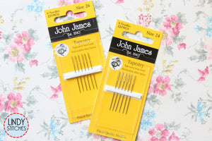 John James Tapestry Needles Size 24 or 26 for Cross Stitch