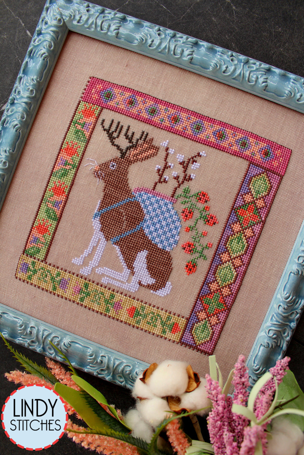 Jackalopian Tapestry Cross Stitch Pattern Physical Copy