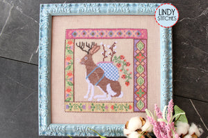 PDF Jackalopian Tapestry Cross Stitch Pattern Lindy Stitches PDF Digital Copy