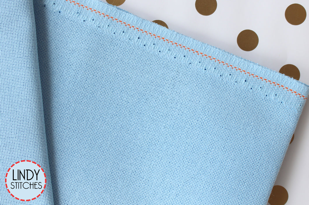 32 count Light Blue Lugana by Zweigart Fat Quarter Evenweave