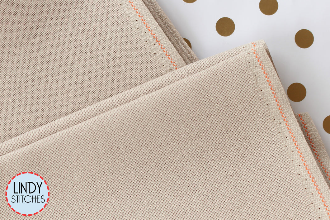 32 count Light Taupe Lugana by Zweigart Fat Quarter Evenweave