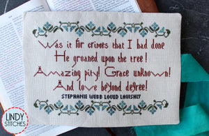 Love Beyond Degree Cross Stitch Pattern by Lindy Stitches Physical Copy