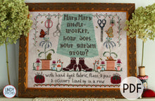 Load image into Gallery viewer, PDF Mary Mary Needleworker Cross Stitch Pattern Lindy Stitches Nashville 2020