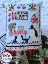 Load image into Gallery viewer, Mistletoe Loitering Society Cross Stitch Pattern by Lindy Stitches Physical Copy