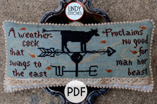 Load image into Gallery viewer, PDF No Good for Man Nor Beast Cross Stitch Pattern by Lindy Stitches