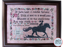 Load image into Gallery viewer, PDF Ride Forth Singing Cross Stitch Pattern by Lindy Stitches