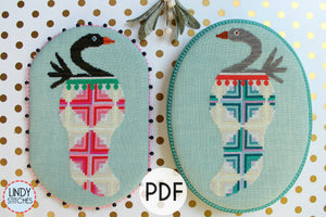 PDF Stocking Stuffers Christmas Cross Stitch Pattern by Lindy Stitches