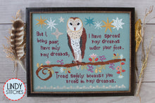 Load image into Gallery viewer, Tread Softly Cross Stitch Pattern Physical Copy Lindy Stitches