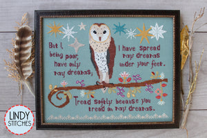 Tread Softly Cross Stitch Pattern Physical Copy Lindy Stitches