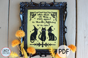 PDF We Three Cross Stitch Pattern Modern Cross Stitch by Lindy Stitches Pattern Keeper Friendly