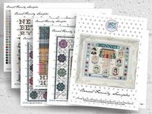 Load image into Gallery viewer, PDF Bennet Family Sampler Lindy Stitches Jane Austen Cross Stitch Pattern