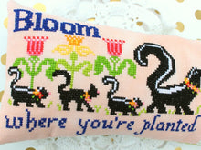 Load image into Gallery viewer, PDF Bloom Where You're Planted Cross Stitch Pattern by Lindy Stitches