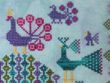 Load image into Gallery viewer, PDF The Peacock Keeper Cross Stitch Pattern by Lindy Stitches