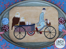 Load image into Gallery viewer, Uncle Sam's Rickshaw Cross Stitch Pattern by Lindy Stitches Physical Chart