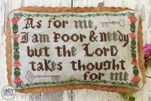 Poor and Needy Cross Stitch Pattern by Lindy Stitches Physical Copy