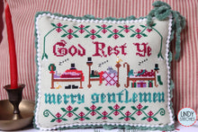 Load image into Gallery viewer, God Rest Ye Merry Gentlemen Cross Stitch Pattern by Lindy Stitches Physical Chart