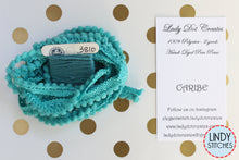 Load image into Gallery viewer, Caribe Mini Pom Pom Trim by Lady Dot Creates Hand Dyed 2 Yards Blue