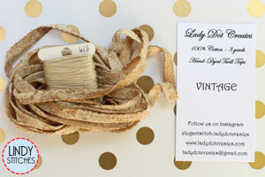 Vintage Hand Dyed Twill Tape by Lady Dot Creates 100% Cotton 3 yards