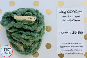 Ogden Grass Chenille Trim Hand Dyed by Lady Dot Creates