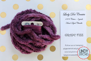 Grape Fizz Chenille Trim Hand Dyed by Lady Dot Creates