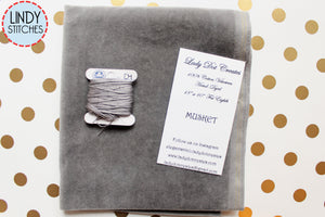 Musket Gray Hand Dyed 100% Cotton Velveteen by Lady Dot Creates
