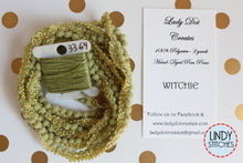 Load image into Gallery viewer, Witchie Mini Pom Pom Trim by Lady Dot Creates Hand Dyed 2 Yards Green