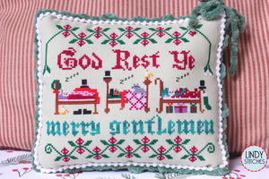 God Rest Ye Merry Gentlemen Cross Stitch Pattern by Lindy Stitches Physical Chart