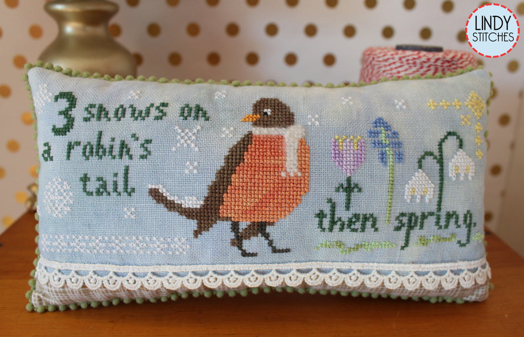 3 Snows Cross Stitch Pattern by Lindy Stitches Physical Chart